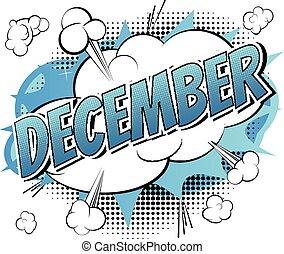 -, libro, cómico, estilo, palabra, diciembre