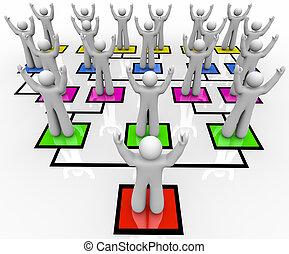 -, organización, reunión, tropas, gráfico