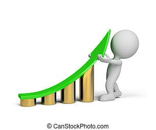 -, persona, mejora, 3d, estadística