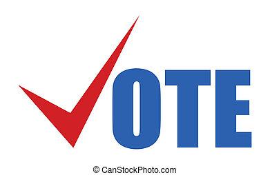 -, señal, vector, elección, voto, día
