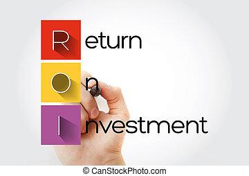 -, siglas, regreso, roi, inversión
