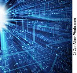 -, tecnología, xl, electrónico