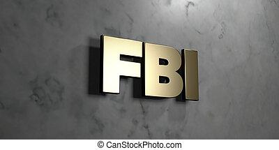 -, titular, imagen, de madera, grungy, pared, acción, rendido, fbi, arce, 3d