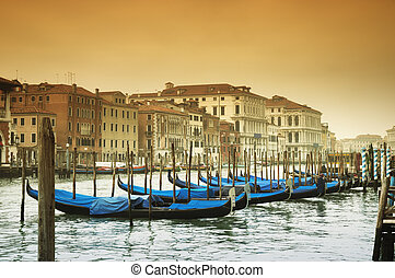 -, venecia italia, canal, magnífico