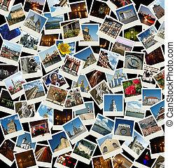 -, viaje, ir, plano de fondo, señales, europeo, fotos, europa