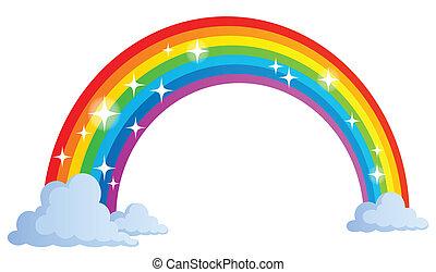 1, arco irirs, imagen, tema