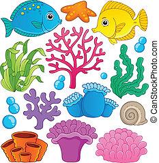 1, barrera coralina, tema, colección