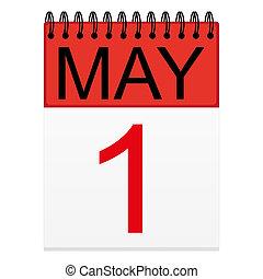 1 de mayo en el calendario