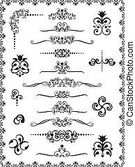 1, diseño, ornamentos