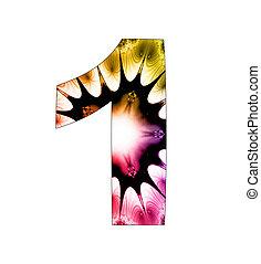1, diseño, resumen, número