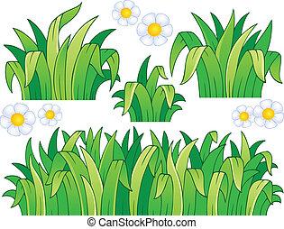 1, hojas, pasto o césped, tema, imagen
