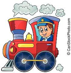 1, imagen, tren, tema