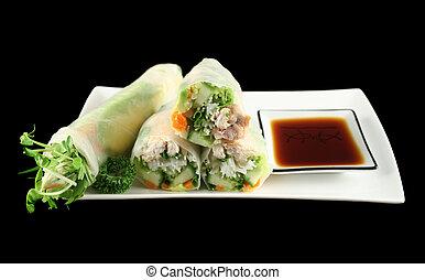 1, papel del arroz, rollos, vietnamita
