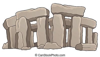 1, piedra, antiguo, tema, monumento