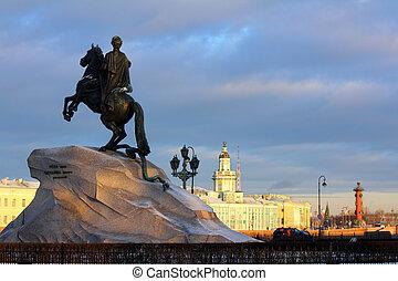 1, saint-petersburg, peter, monumento