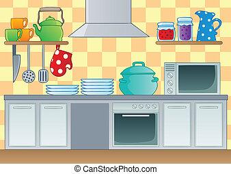 1, tema, imagen, cocina