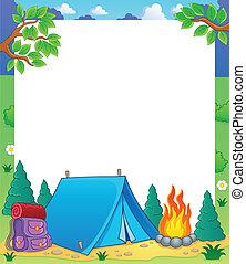 1, tema, marco, campamento