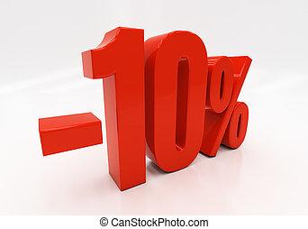 10, porcentaje, 3d