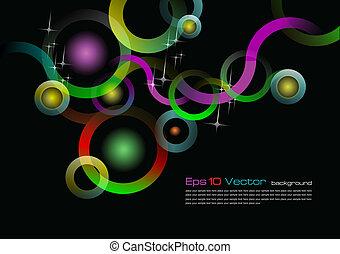 10 vectores de fondo negro