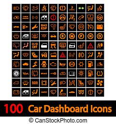 100 íconos de auto.