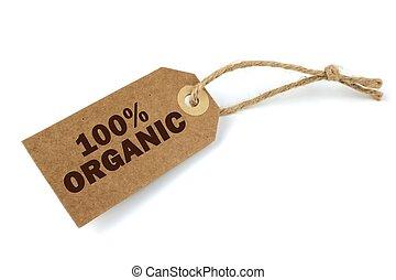 100% etiqueta orgánica