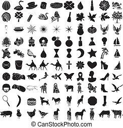 100 iconos a la derecha