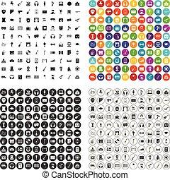100 iconos conservatorios marcan la variante vectorial