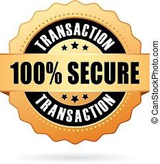 100 iconos de transacción seguros