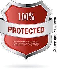 100 iconos vectores protegidos