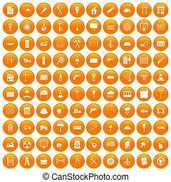 100 materiales de construcción son de color naranja