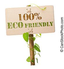 100% señal verde ecológica