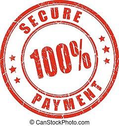 100 sellos de pago seguros