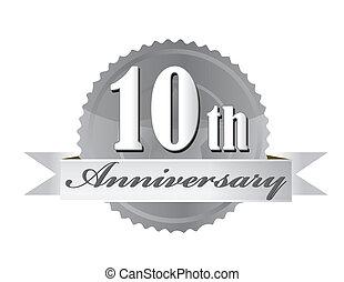 10o aniversario de ilustración de foca