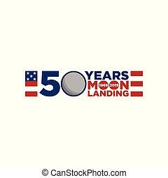 11, apolo, aniversario, aterrizaje de la luna, 50, años, celebración
