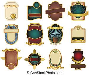 12 sellos de vectores a medida