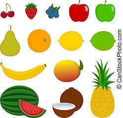 14 iconos de fruta fresca
