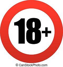 18+, edad, signo., restricción