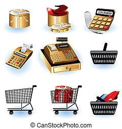 2, compras, iconos