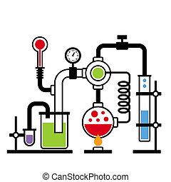 2, laboratorio, infographic, conjunto, química