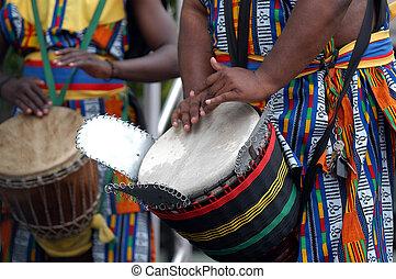 2, tambor, africano
