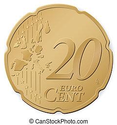 20, centavo, euro