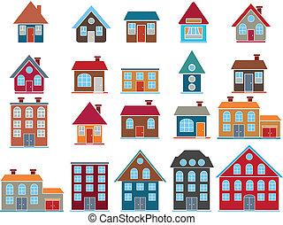 20 edificios. Vector