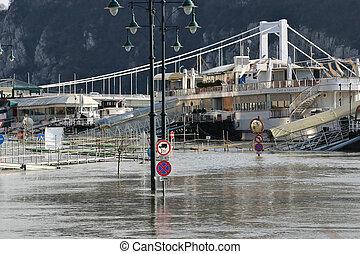 2006, inundación, hungría, budapest