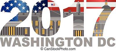 2017 América bandera Washington DC ilustración
