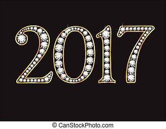 2017, diamante, fuente, enjoyado