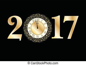 2017, feliz, año, nuevo