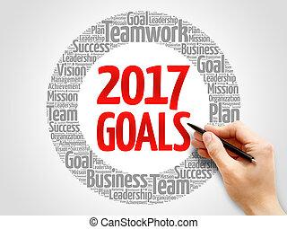 2017 Goals palabra collage nube