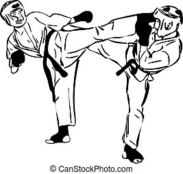 22, combativo, sports(3).jpg, marcial, karate, kyokushinkai, bosquejo, artes