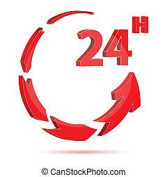 24 horas, icono