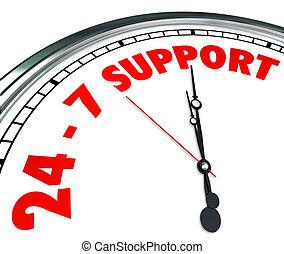 247 palabras de apoyo. El servicio de clientes siempre está abierto